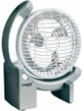 Eveready Rechargeable Fan with LED Light (RF02) AC - DC 3 Blade Table Fan(White)