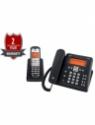 Gigaset C675 Corded & Cordless Landline Phone with Answering Machine(Black)