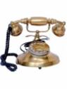 Royal Handicrafts KZ2569 Corded Landline Phone(Golden)
