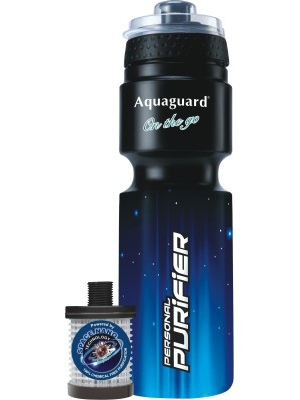 Aquaguard On the Go Portable Gravity Based Water Purifier(Black)