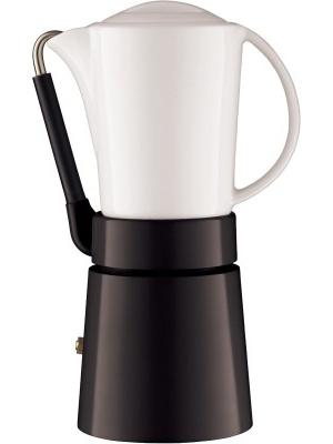 Aerolatte Cafe Porcellana 4 cups Coffee Maker(Black)