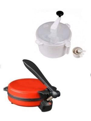 ECO SHOPEE COMBO OF EAGLE DETACHABLE RED ROTI MAKER WITH DOUGH MAKER Roti/Khakhra Maker(Red)