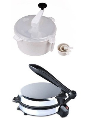 ECO SHOPEE COMBO OF EAGLE DETACHABLE ROTIMAKER WITH DOUGH MAKER Roti/Khakhra Maker(Silver)