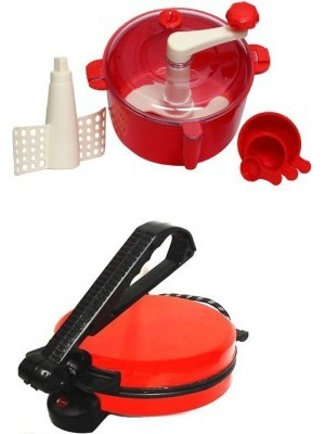 ECO SHOPEE COMBO OF NATIONAL RED Roti- MAKER WITH RED Dough Maker(Red)