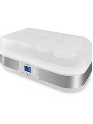 NutriChef PKYM80 - Electronic Yogurt Maker Machine with Digital Display Timer Function - 8 Glass Jar