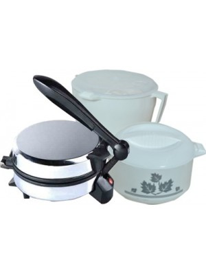 WELLWON Combo Roti maker Roti/Khakhra Maker(SILVER AND WIGHT & BLACK)