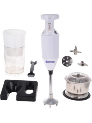 Sunmeet SMWhite with Attachment 200 W Hand Blender(White)