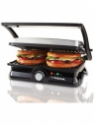 Nova 3 in 1 Panni Grill Press with Adjustable Temperature Control Grill, Toast(Black)