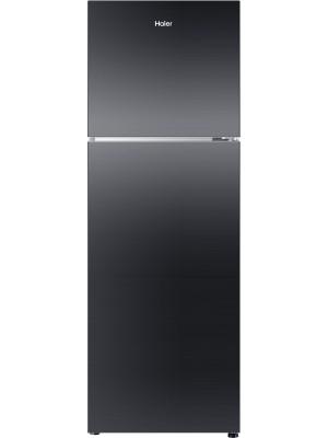 Haier 270 L Frost Free Double Door Refrigerator(HRF-2904PKG-R, Black Glass, 2016)