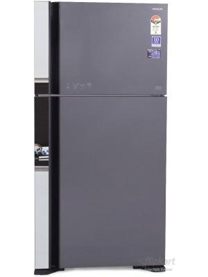 Hitachi 565 L Frost Free Double Door Refrigerator(R-VG610PND3, Glass Grey, 2016)
