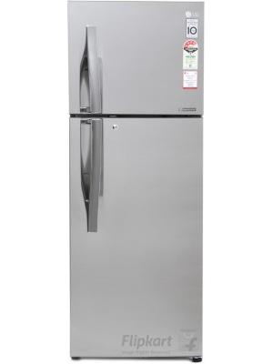 LG 308 L Frost Free Double Door Refrigerator(GL-I322RPZL, Shiny Steel, 2016)