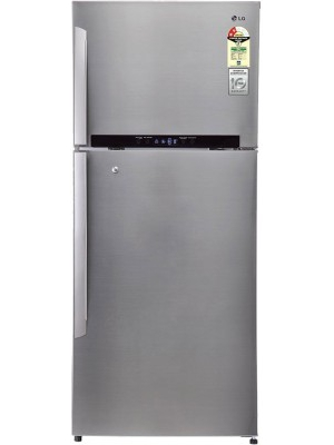 LG 546 L Frost Free Double Door Refrigerator(GN-M702HLHM, Shiny Steel/Platinum Silver 3, 2016)