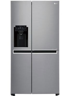 LG 668 L Frost Free Side by Side Refrigerator(GC-L247SLUV, Shiny Steel/Platinum Silver/VCM-Platinum