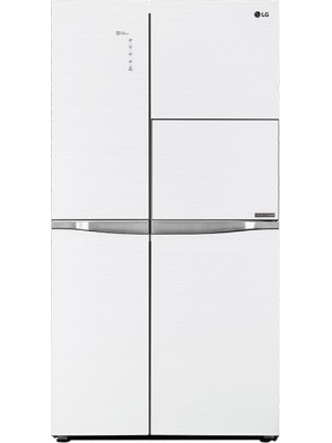 LG 675 L Frost Free Side by Side Refrigerator(GC-C247UGUV, Aria White, 2016)