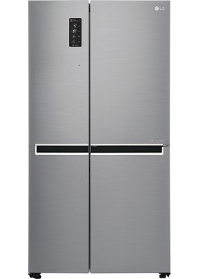 LG 687 L Frost Free Side by Side Refrigerator(GC-B247SLUV, Shiny Steel/Platinum Silver3, 2016)