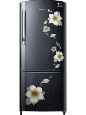 SAMSUNG 192 L Direct Cool Single Door Refrigerator(RR20M172ZB2/HL, Star Flower black, 2017)