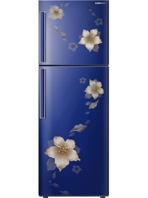 SAMSUNG 253 L Frost Free Double Door Refrigerator(RT28M3343U2/NL/RT28M3343U2/HL, Star Flower Blue, 2