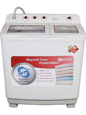 Koryo KWM9017SA 9 Kg Semi Automatic Top Load Washing Machine