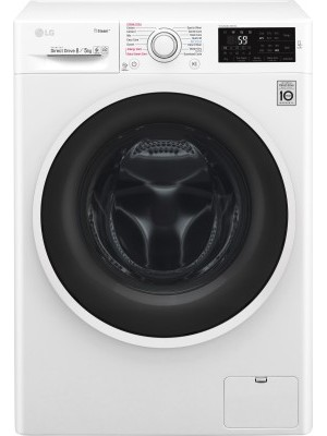 LG 8 Fully Automatic Front Load Washer with Dryer (F4J6TGP0W)