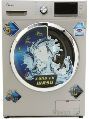 Midea 8 kg Fully Automatic Front Load Washing Machine(MWMFL080CDR)