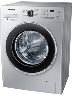 Samsung 8 kg Fully Automatic Front Loading Washing Machine (WW80J4213GS)