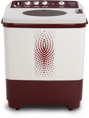 Sansui 7.3 kg Semi Automatic Top Load Washing Machine Maroon(SS73FM-DMA)