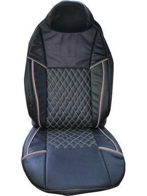 KVD Autozone Leatherette Car Seat Cover For Hyundai XcentNA Without Back Arm