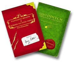 Harry Potter Schoolbooks: Quidditch Through the Ages and Fantastic Beasts and Where to Find Them English