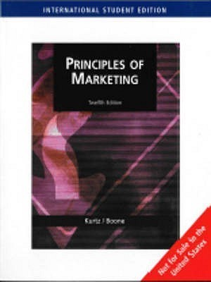 Principles of Marketing Not for Sale in the United States Twelth EditionEnglish, Paperback, Kurtz David L.