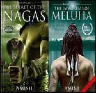 Shiva Trilogy: The Secret of the Nagas and the Immortals of Meluha Set of 2 BooksEnglish, Paperback, Amish Tripathi