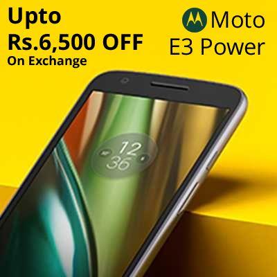 Best Exchange Offer On Moto E3 Power