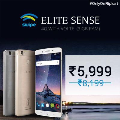Swipe Elite Sense 4G @ Rs.5,999