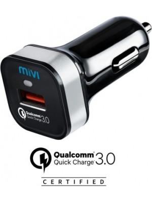 Mivi 3.1 amp Turbo Car Charger(Black)