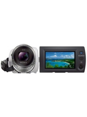 Sony 16GB HDR-PJ340E/W with Built-in Projector & Wi-Fi/NFC Full HD Camcorder Camera(White)