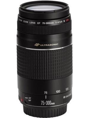 Canon EF 75 - 300 mm f/4-5.6 III USM Lens(Black, Telephoto Zoom Lens)
