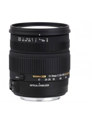 Sigma 17 - 70 mm F2.8-4 DC Macro OS HSM for Nikon Digital SLR Lens(Black)