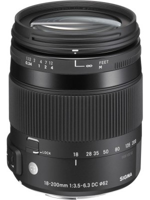 Sigma 18 - 200 mm f/3.5 - 6.3 DC Macro OS HSM Contemporary Lens for Nikon Cameras Lens