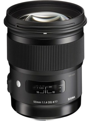 Sigma 50 mm f/1.4 DG HSM Art Lens for Nikon Cameras Lens