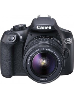 Canon EOS 1300D DSLR Camera (Body with EF-S 18 - 55 IS II)(Black)