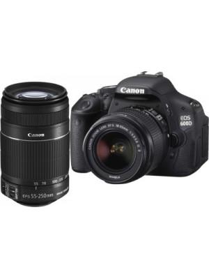 Canon EOS 600D (Body with EF-S 18-55 mm IS II & EF-S 55-250 mm IS II Lenses) DSLR Camera(Black)