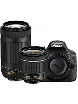 Nikon D3300 DSLR Camera D-ZOOM KIT: AF-P 18-55mm VR + AF-P DX NIKKOR 70-300mm f/4.5-6.3G ED VR Kit L