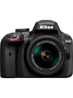 Nikon D3400 DSLR Camera with Kit Lens AF-P DX NIKKOR 18 - 55 mm f/3.5 - 5.6G VR(Black)