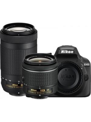 Nikon D3400 DSLR Camera with Lens AF-P DX NIKKOR 18 - 55 mm f/3.5 - 5.6G VR & AF-P DX NIKKOR 70 - 30