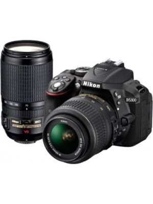 Nikon D5300 DSLR Camera with Kit Lens (AF-P DX NIKKOR 18 - 55 mm f/3.5 - 5.6G VR + AF-P DX NIKKOR 70