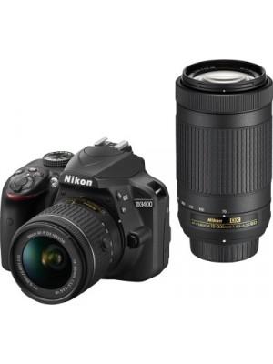 Nikon DSLR D3400 DSLR Camera Body with Dual Lens: AF-P DX NIKKOR 18-55 mm f/3.5 - 5.6G VR + AF-P DX NIKKOR 70-300 mm f/4.5 - 6.3G ED VR