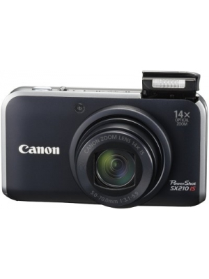 Canon PowerShot SX210 IS Point & Shoot Camera(Black)