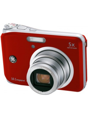 GE A1050 6.3 - 31.5mm Point & Shoot Camera(Red)