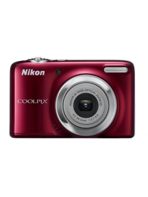 nikon l25 point & shoot camera(red) price in india along