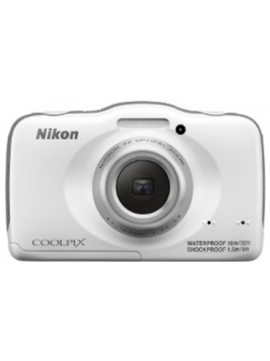 Nikon S32 Point & Shoot Camera(White)