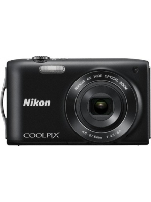 Nikon S3200 Point & Shoot Camera(Black)